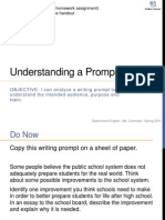 understanding a writing prompt