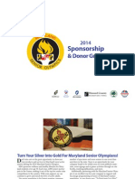 MD Senior Olympics 2014 Sponsorship Guide