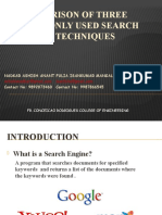 Comparison Of Three Commonly Used Search Engine Techniques