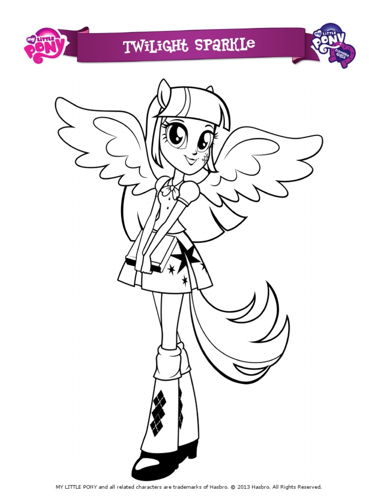 My little pony equestria girl coloring pages games