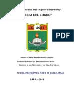 Proyecto Institucional-dia Del Logro-primaria