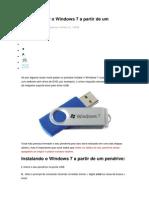Como Instalar o Windows 7 a Partir de Um Pendrive