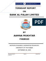 Internship Report on bank Al-Falah