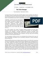 Nov 09 - Pmwt Viewpoints - Alemu - Crisis Manager - Final Draft