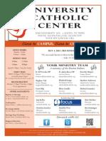 UCC Sunday Bulletin 05-04-2014