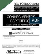 AV Conhec. Espec. 2013 DEMO-P&B-UFMS (Assist. Adm.)