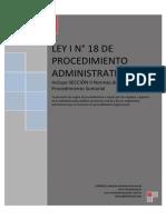 LEY I Nº 18 de Procedimiento Administrativo