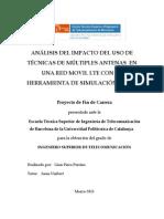 Analisis Del Impacto Del Uso de Tecnicas de Multiples Antenas en Una Red Movil LTE