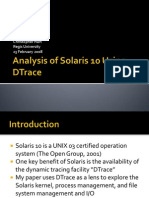 CS430 Solaris and DTrace Presentation
