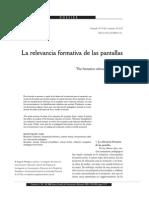 Huergo - La Relevancia Formativa de Las Pantallas