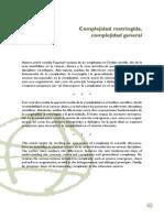 Morin, Edgar - Complidad Restringida - Complejidad General