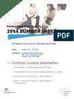 FESA'S 2014 Summer Institute