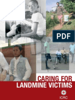 Caring for landmine victims