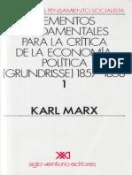 Karl Marx Grundrisse Tomo I