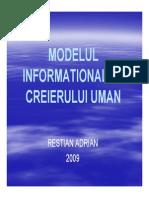 Restian Adrian - Modelul Informational Al Creierului Uman