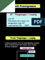 Teknik Pemrograman #07 - Pengulangan - Loop