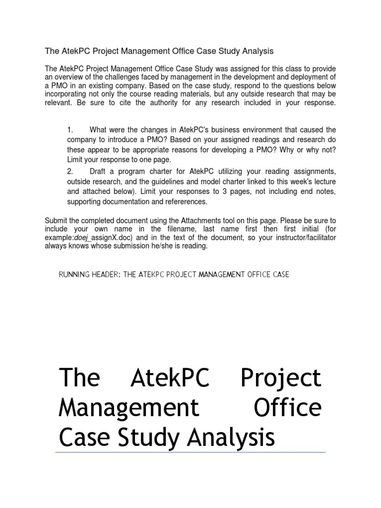 atekpc case analysis Harvard business school: the atekpc project management essay attack finds itself, like all other pc manufacturers facing a changing industry,  case analysis.