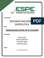 Desiguldad Social en El Ecuador