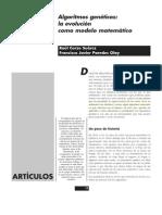 AG, La Evolucion Como Modelo Matematico