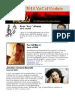 Vocal Newsletter Spring 2014