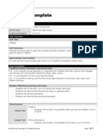 intel unit plan template