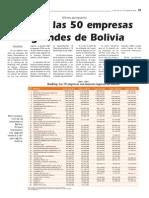 Rankin de Las 50 Empreas de Bolivias Mas Rentables