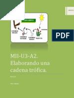 MII-U3-A2. Elaborando una cadena trófica.