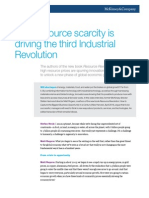 How Resource Scarcity is Driving the Third Industrial Revolution
