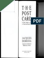 Jacques Derrida the Postcard