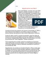 Biografía de San Juan Pablo II