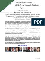 21st Century U.S.-Egypt Strategic Relations Conf. - Bios