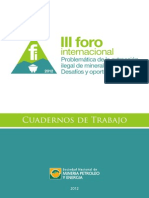 PDF Libro Portada 80230 Cuaderno 3er Foro Mineria Ilegal