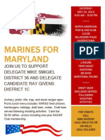 Invitation for Marines For Maryland Event