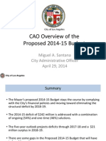 2014-15 Proposed Budget.cao Presentation