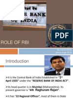 Role of RBI