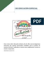 Inclusión Educativa. Sector II de Educación Especial. 2014
