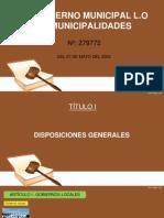 Diapositivas Derecho Administrativo Ley Municipalidades Compatibilidad