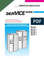 Samsung Refrigerador RS24, 25. 26. 27 - Manual de Servicio