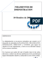 Fundamentos de Administracion 10 Oct 091