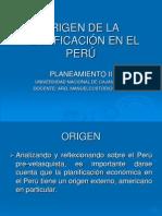 Origen de La Planificación en El Perúok