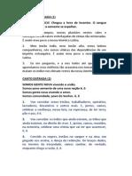 Cantos Missa Sao Sebastiao 2014