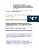 Características de Una Pequeña Empresa