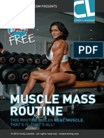 Muscle Mass Routine