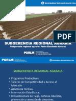 Funciones Subgerencia Regional Agraria