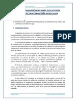 Determinacion de Iones Sulfato