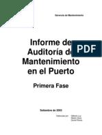 Informe de Auditoría Mantenimiento - Antamina