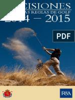 RFEG Decisiones 2014-2015 - Modificaciones a La Edición 2012