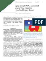 Seismic Imaging Using GPGPU.final-project-writeup