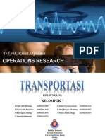 Operation Research - Transportasi