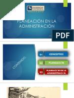 Planeación en La Administración